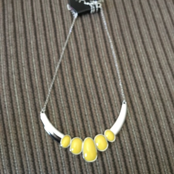 Yellow silver necklace
